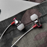 Delta IEM Noise Isolating Earphones With Microphone & Remote - Silver