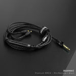 EARPHONE CABLE MMCX CONNECTOR WITH MIC & REMOTE (3.5MM JACK)