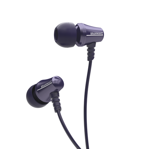 Jive Noise Isolating IEM Earphones w/ 3 Button Remote & Microphone - Blue