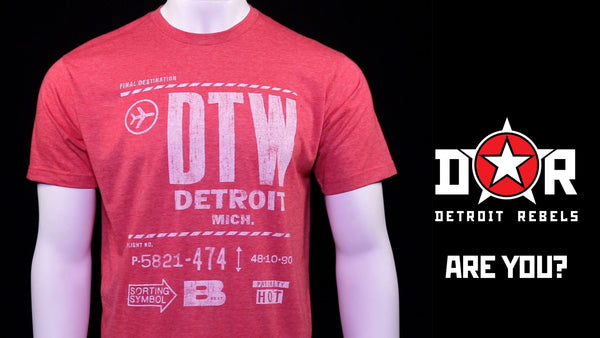 Detroit T-Shirts by Detroit Rebels Clothing Brand - www.DetroitRebels.com
