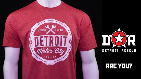 (0001) Detroit Motor City Forever T-Shirt Mens by DETROIT★REBELS Brand