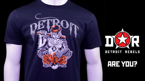 (0006) Detroit Gangster Tiger T-Shirt, Detroit T-Shirts LLC