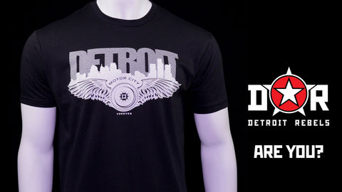 (0015) Detroit Motor City Wings T-Shirt, Detroit T-Shirts LLC
