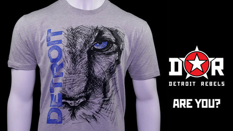 Lion Eye Detroit T-Shirt by DETROIT★REBELS Brand