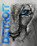 (0048) Lion Eye Detroit T-Shirt, Detroit T-Shirts LLC - Detroit T-Shirts | Detroit Apparel | Detroit Clothing