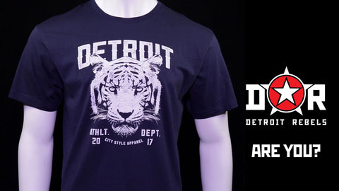 (0051) Detroit Wildlife Tiger T-Shirt, Detroit T-Shirts LLC