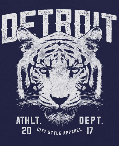 (0051) Detroit Wildlife Tiger T-Shirt, Detroit T-Shirts LLC - Detroit T-Shirts | Detroit Apparel | Detroit Clothing