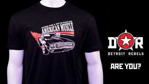 (0061)  American Muscle Car Dodge Challenger 1964 T-Shirt