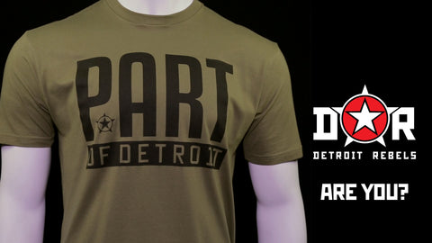 (0072) PART OF DETROIT T-Shirt by Detroit Rebels Brand