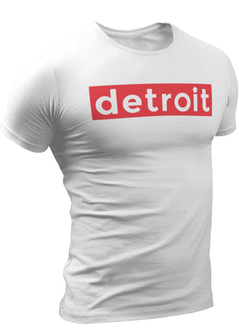 (0084) Detroit Supreme White T-Shirt by Detroit Rebels Brand