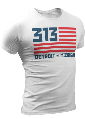 (0073) 313 Detroit Area Code T-Shirt, Detroit T-Shirts LLC