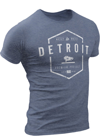 Detroit Built-To-Build Cars T-shirt by DETROIT★REBELS Brand