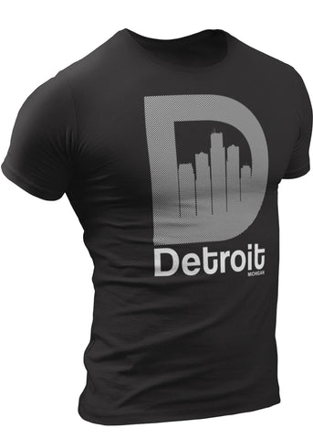 Detroit D-Skyline T-shirt by DETROIT★REBELS Brand