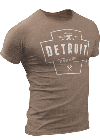 Detroit Strong As Steel T-Shirt by DETROIT★REBELS Brand