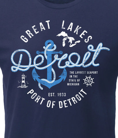 (0094) Port of Detroit T-Shirt by Detroit Rebels
