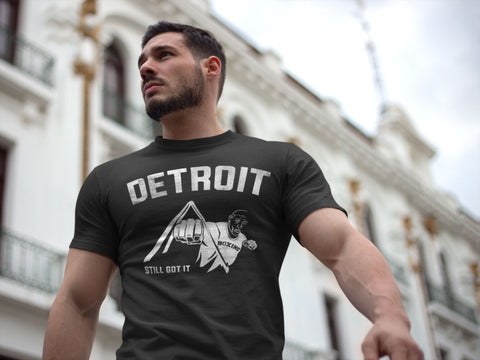 (0019) Detroit Joe Louis Fist T-Shirt, Detroit T-Shirts LLC