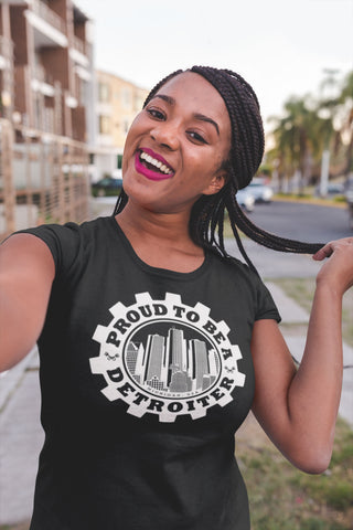 Proud To Be A Detroiter T-Shirt by DETROIT★REBELS Brand