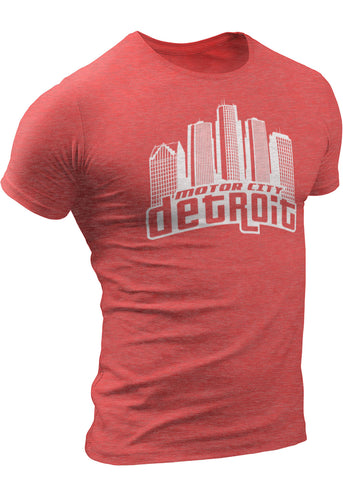 (0021) Detroit Motor City Skyline T-Shirt, Detroit T-Shirts LLC