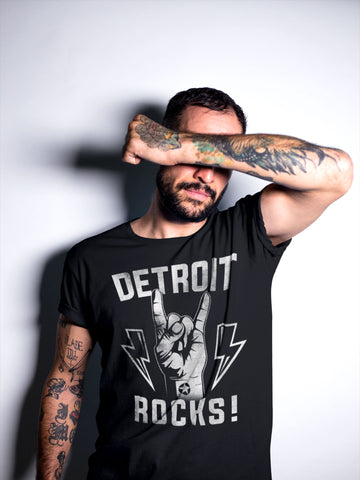 (0091) DETROIT ROCKS T-Shirt by DETROIT REBELS Brand