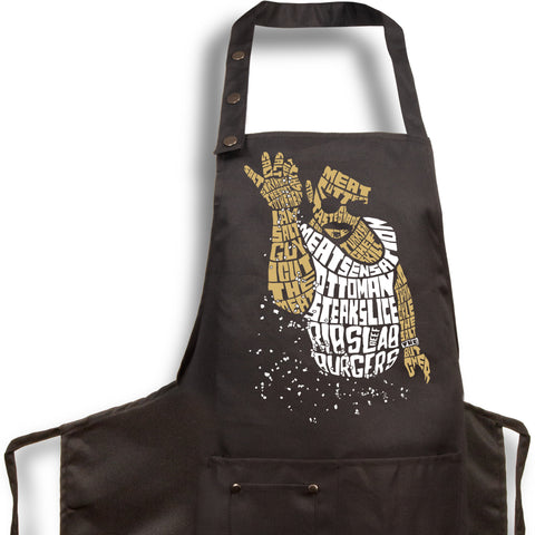 2. Funny Aprons - Salt Bae Guy - Men Women - Fun Slogans - Waterproof BBQ Grilling