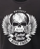 (0056) Extra Mile Motorcycle T-Shirt, Detroit T-Shirts - Detroit T-Shirts | Detroit Apparel | Detroit Clothing