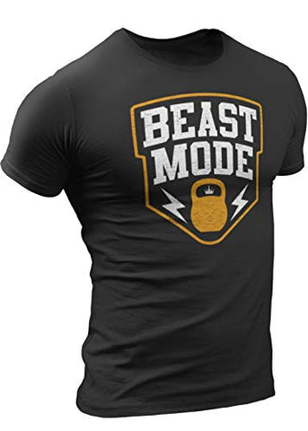 Beast Mode T-Shirt for Men Crossfit Workout Weightlifting Funny Gym Tshirt