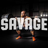 Savage T-Shirt for Men Crossfit Workout Weightlifting Funny Gym Tshirt