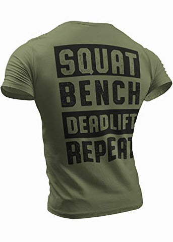 Squat Bench Deadlift  T-Shirt for Men Crossfit Workout Weightlifting Funny Gym Tshirt