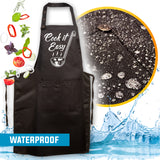 10. Funny Aprons - Cook It Easy Apron - New 2020 Designs - Men Women - Fun Slogans - Waterproof BBQ