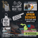 1. Funny Aprons - CAUTION VEGANS - Men Women - Fun Slogans - Waterproof BBQ Grilling