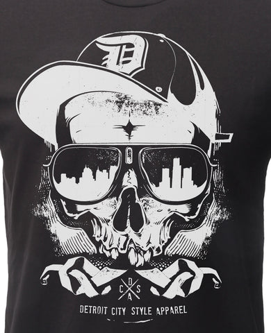(0054) Detroit Thug Skull T-Shirt, Detroit T-Shirts LLC - Detroit T-Shirts | Detroit Apparel | Detroit Clothing