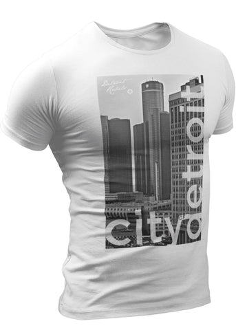 (0100) City of Detroit Photo White T-Shirt by Detroit Rebels Brand