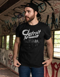 (0103) Detroit City Night Skyline T-shirt, Detroit Rebels Brand