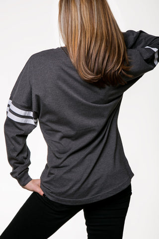 DETROIT ★ REBELS | OVERSIZED CREW NECK PULLOVER (11280DR-drgray)