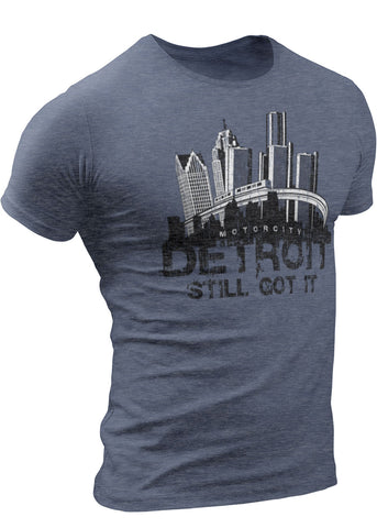 (0014) Detroit Skyline People Mover T-shirt, Detroit T-Shirts LLC