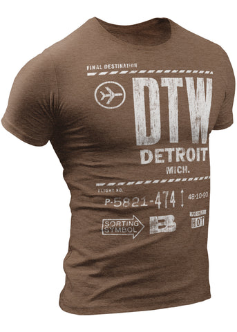 (0003) DTW - Final Destination - Detroit Airport T-Shirt by DETROIT★REBELS Brand