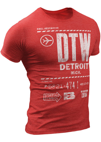 DTW Final Destination Detroit Airport T-Shirt by DETROIT★REBELS Brand