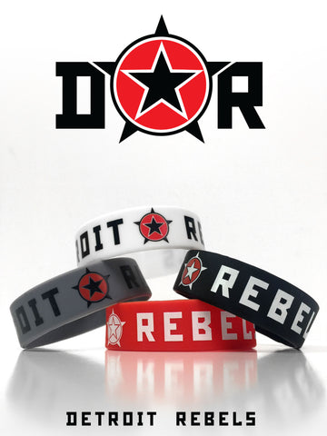DETROIT ★ REBELS WRISTBAND - Detroit T-Shirts | Detroit Apparel | Detroit Clothing