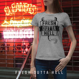 (BG-01) FRESH OUTTA HELL T-Shirt | Bad Girls Outfit