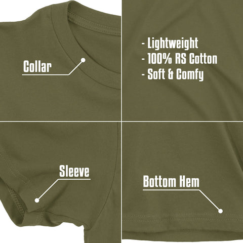 "(0070) Detroit T-Shirt: Detroit ""D"" Square Military Army Green"