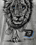 (0089) Detroit Lion T-shirt. Lions Sketch Detroit T-Shirt, DETROIT★REBELS Brand