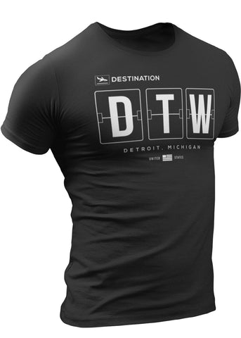 (0114a) Detroit Airport T-Shirt, DTW Final Destination Shirt