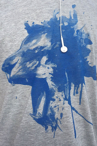 (0049) Roaring Lion Detroit T-Shirt, Detroit T-Shirts LLC - Detroit T-Shirts | Detroit Apparel | Detroit Clothing