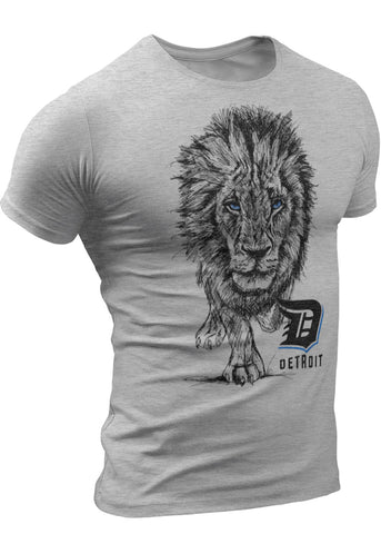 Lions Sketch Detroit T-Shirt for men by DETROIT★REBELS | Mens Lions tshirt