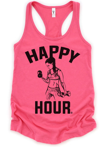 Crossfit Workout Weightlifting Women's Tank Top and T-Shirts Hot Pink Military Grey