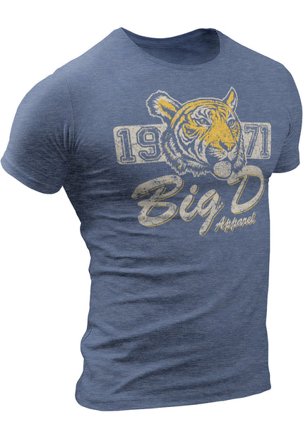 Detroit Tiger T-Shirt 1971 Big D Apparel by DETROIT★REBELS Brand