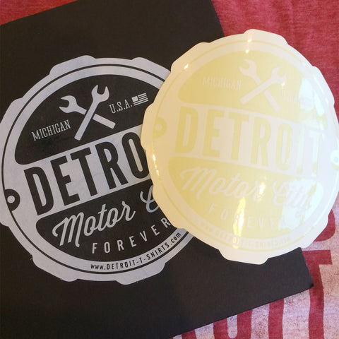 Detroit Motor City Forever Car Truck Window Sticker Decal