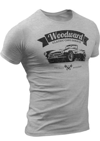 (0024) Woodward Classic Cars Garage T-shirt (3), Detroit T-Shirts LLC