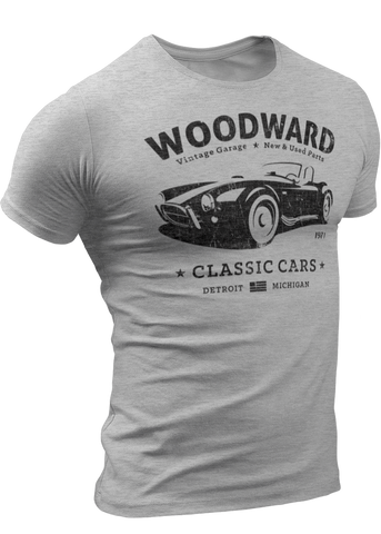 (0026) Woodward Garage T-shirt (5), Detroit T-Shirts LLC