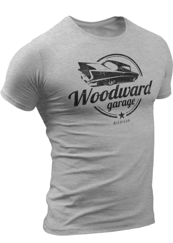 (0027) Woodward Garage T-shirt (6), Detroit T-Shirts LLC